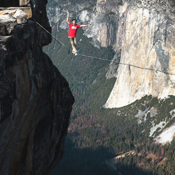Walking a high wire to success habits in small business